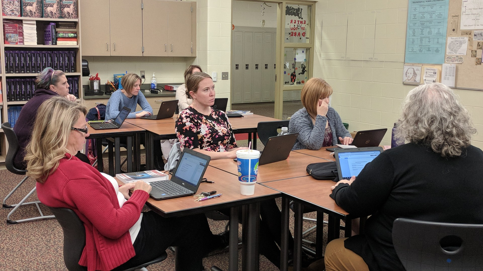 Teachers attend professional development training on Google Apps