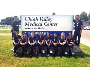 Local high school students participate in healthcare internship.