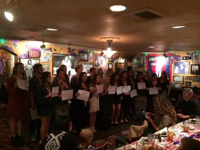 Students receiving AVID awards