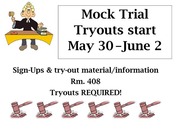Mock Trial Tryouts Thumbnail Image