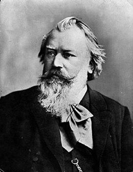 A photograph of Brahms