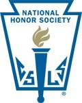 The National Honor Society logo. An aflame torch surrounded by a frame