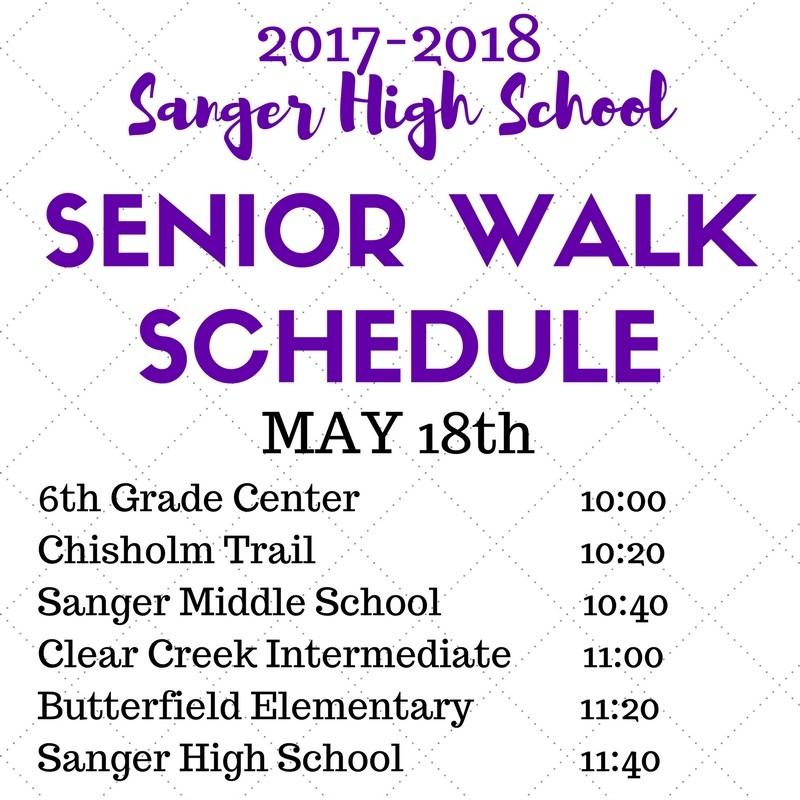 Senior Walk Schedule