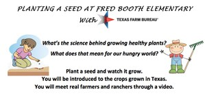 Planting a seed at Fred Booth Elemantary
