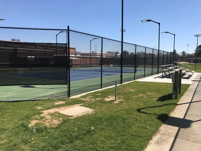 Brookland-Cayce High's new tennis court...providing the school with five courts total.
