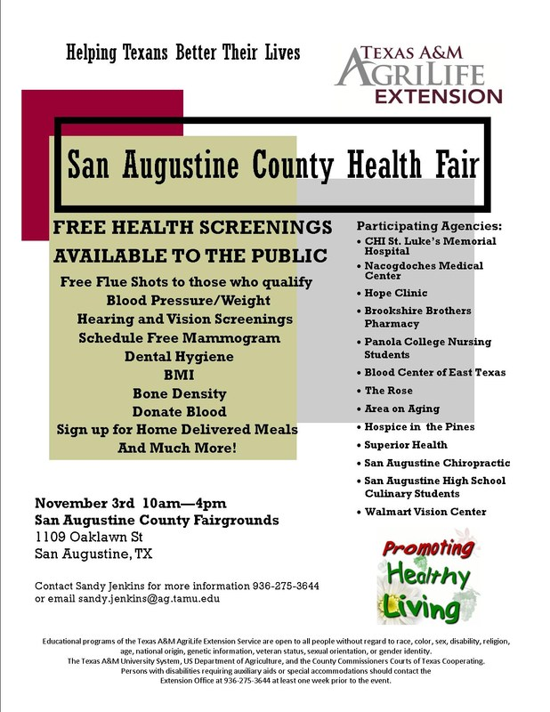 County Health Fair Flyer
