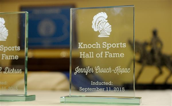 Sample of the Hall of Fame trophy