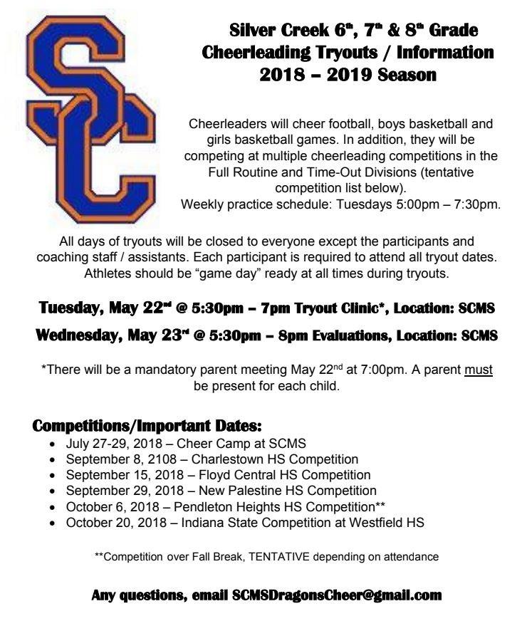 Cheer 2018 Info