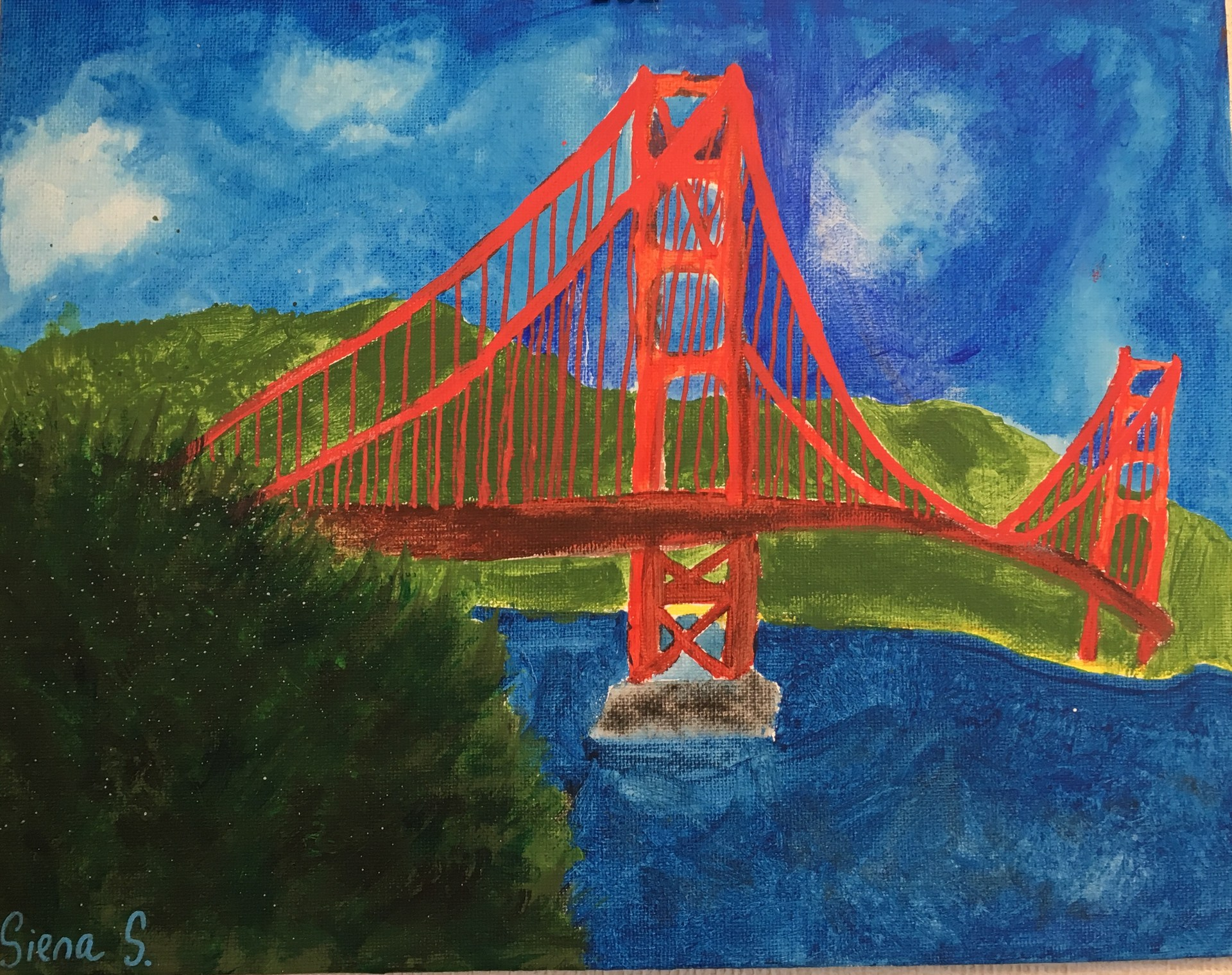 Student Painting of the Golden Gate Bridge