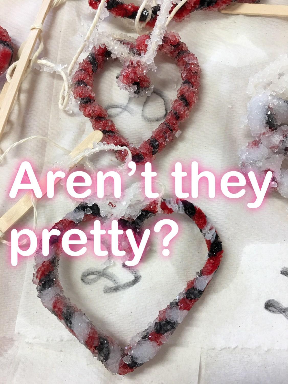 Salt Crystal Valentines