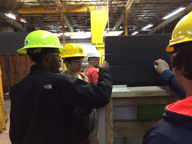 Wilkes Central High Students Tour Gardner Glass