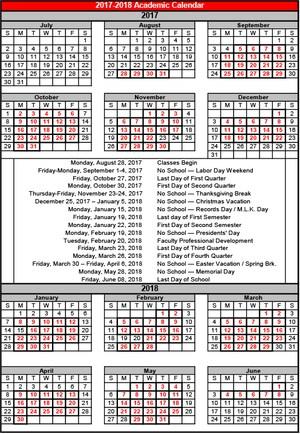 Academic Calendar mini.