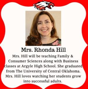 Mrs. Hill - New Teacher