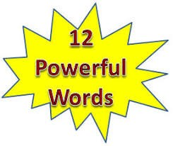12 powerful words