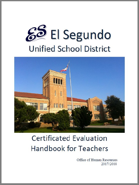 Evaluations Certificated Human Resources El Segundo Unified