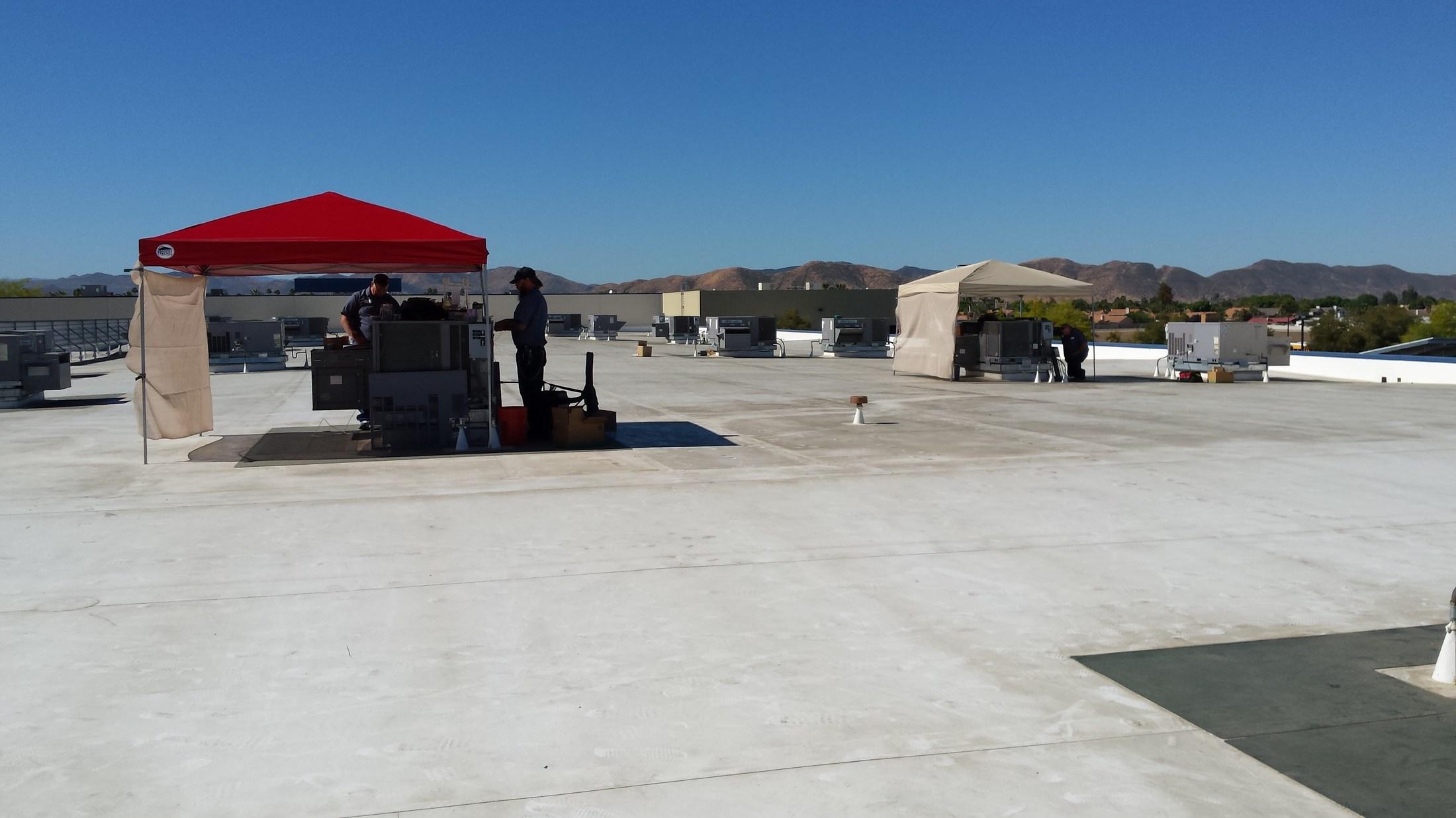 HVAC Technicians hard at work