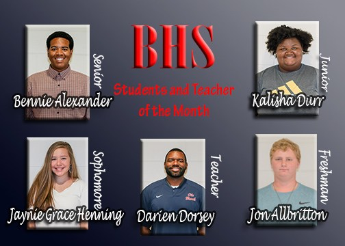 BHS Students and Teacher of the Month Thumbnail Image