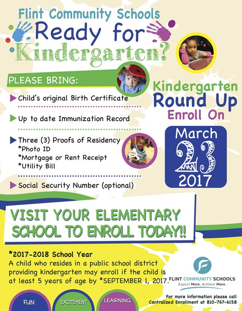 Kindergarten Round Up  | Open House March 23, 2017 Thumbnail Image