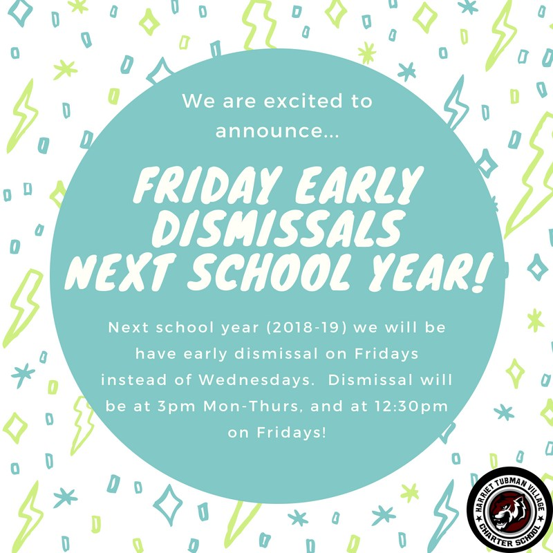 Dismissals on Fridays in the 2018-19 School Year! Featured Photo