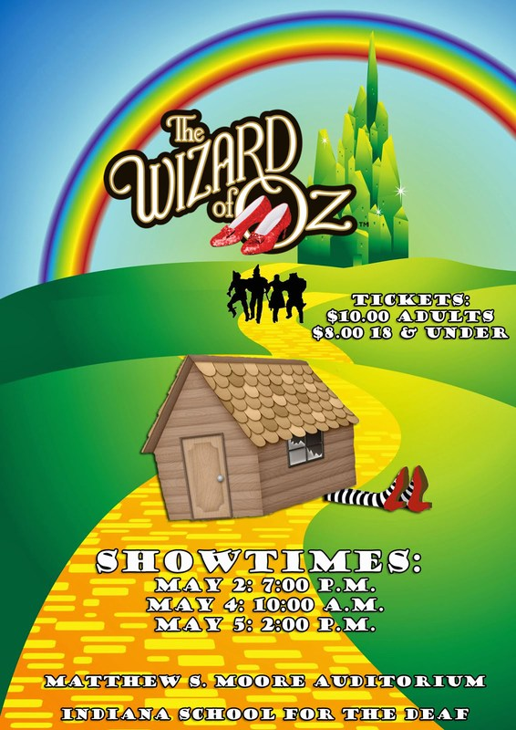 Wizard of Oz poster for May 2018.