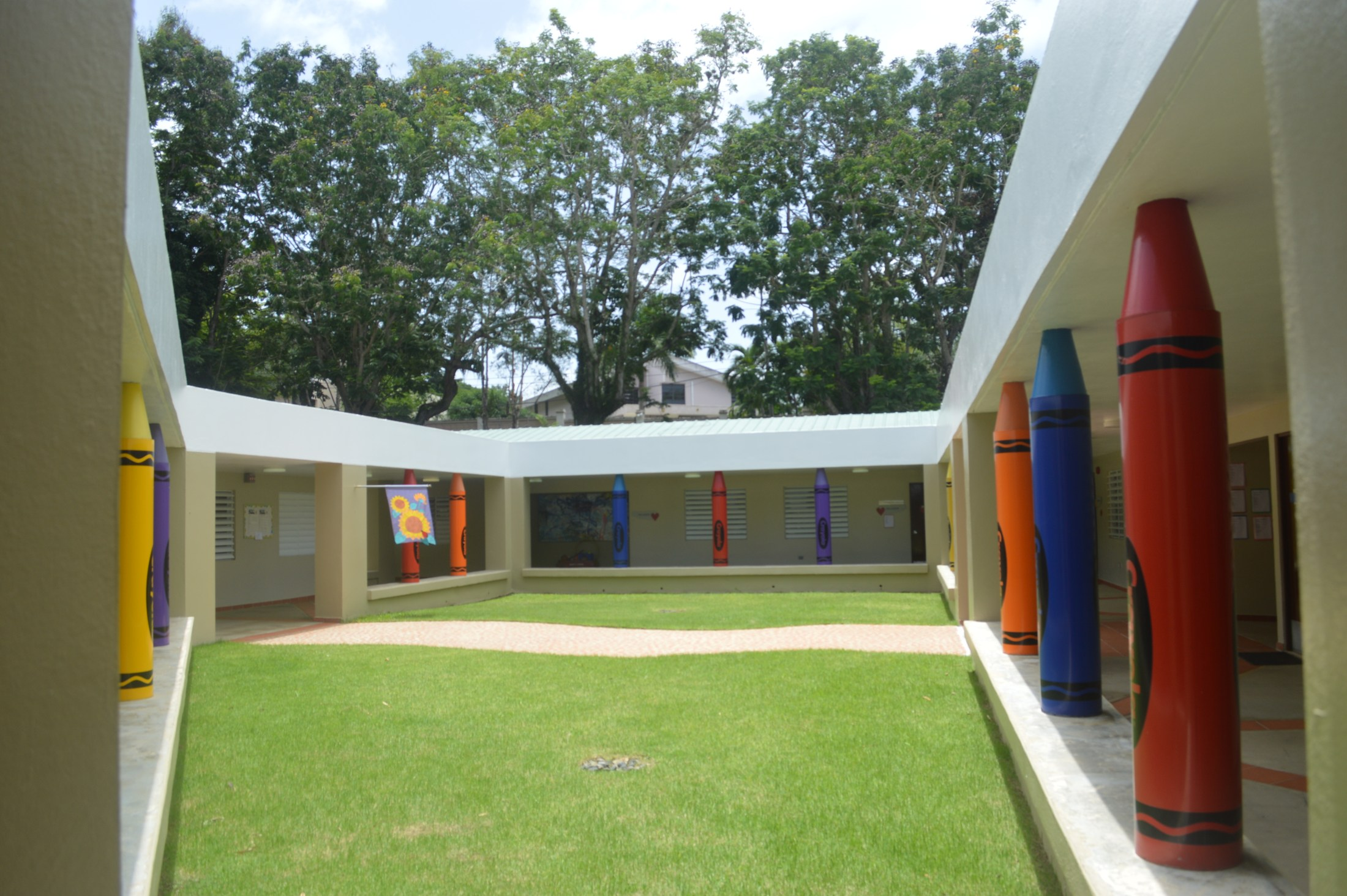 Baldwin Oxman Early Childhood Center (PYP) courtyard