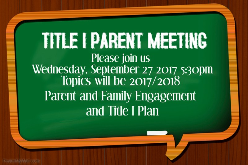Title 1 Parent Meeting Thumbnail Image