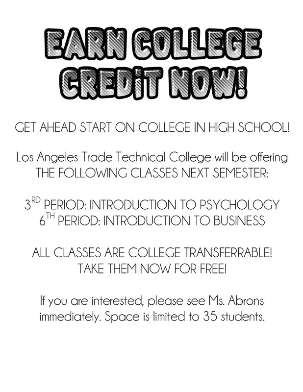 Get ahead start on College Courses in High School. Thumbnail Image