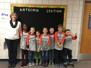 Lee Elementary's Odyssey of the Mind team competes at regionals.
