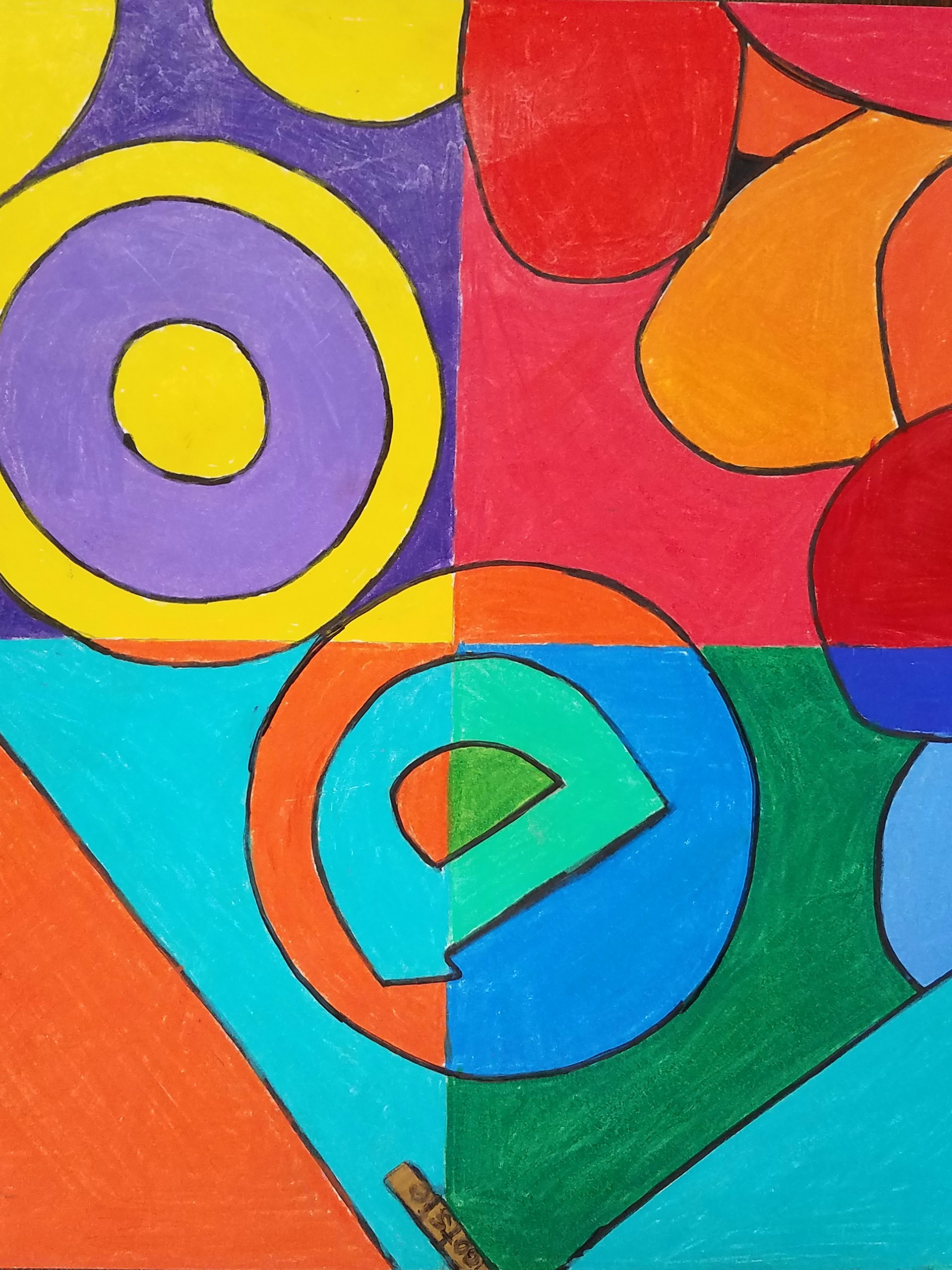 Pop Art color theory project by Jayln Dunn