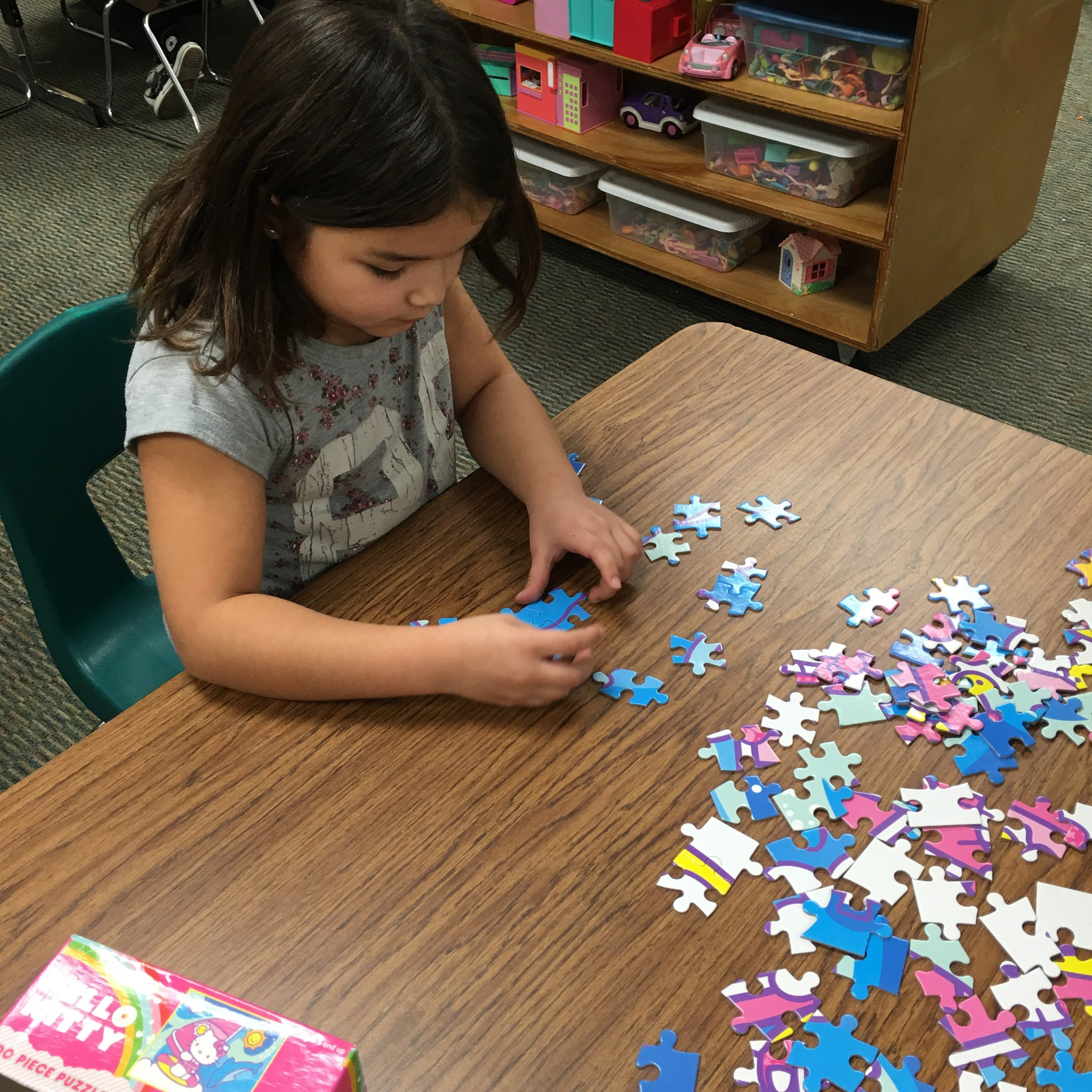 Jig saw puzzles.
