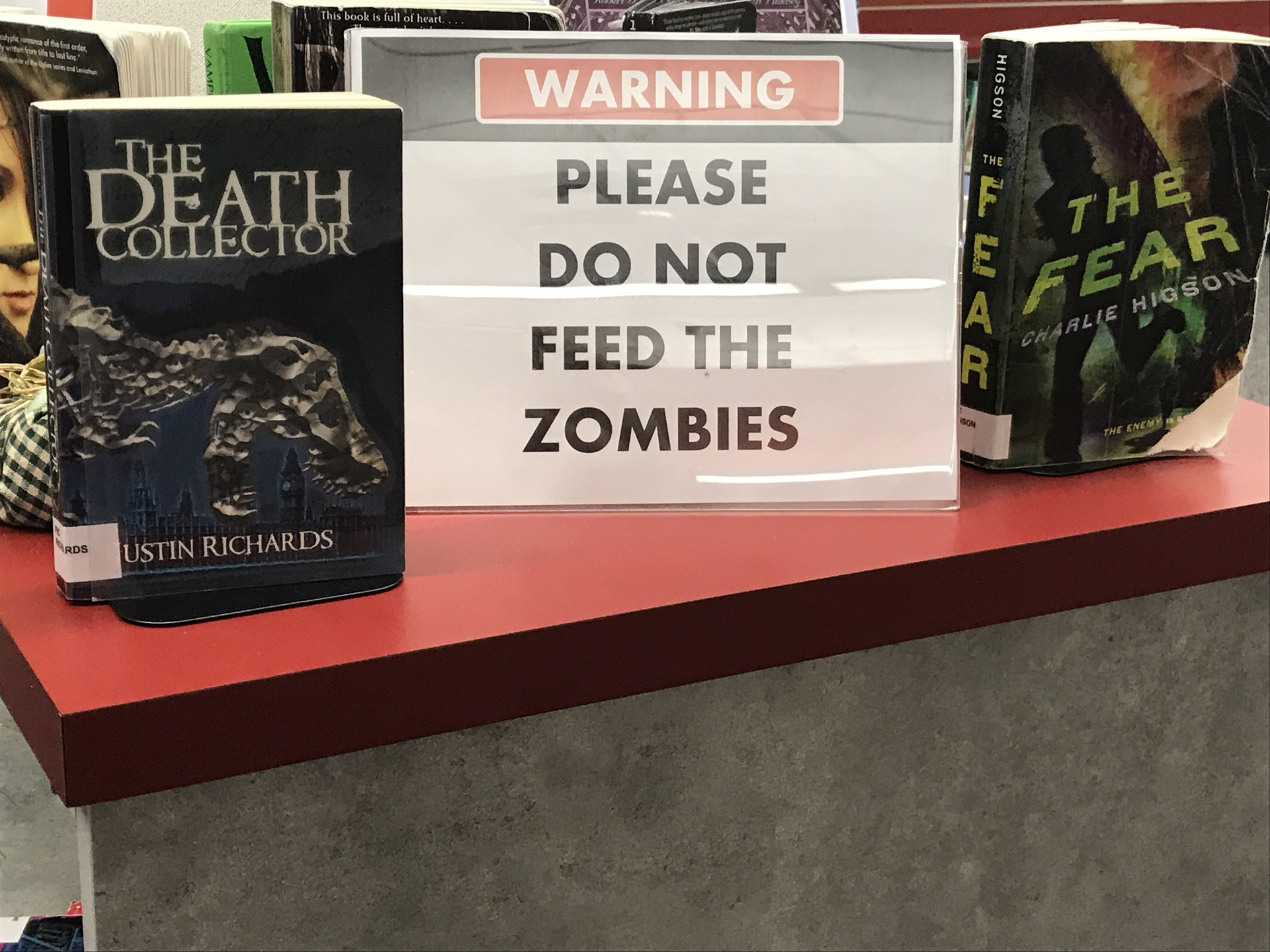 Zombie book sign