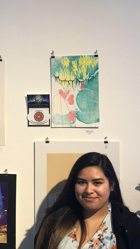 Senior Kim Flores Wins Award at the Illinois High School Art Exhibition Featured Photo