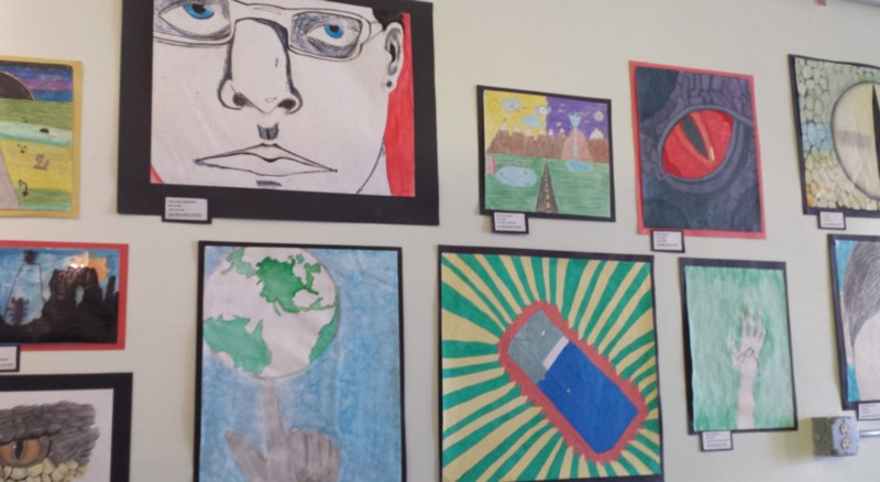 PRMS students art work on display at Scoopy Doo Gelato Shop