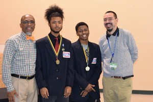 Students recognized at school board meeting.