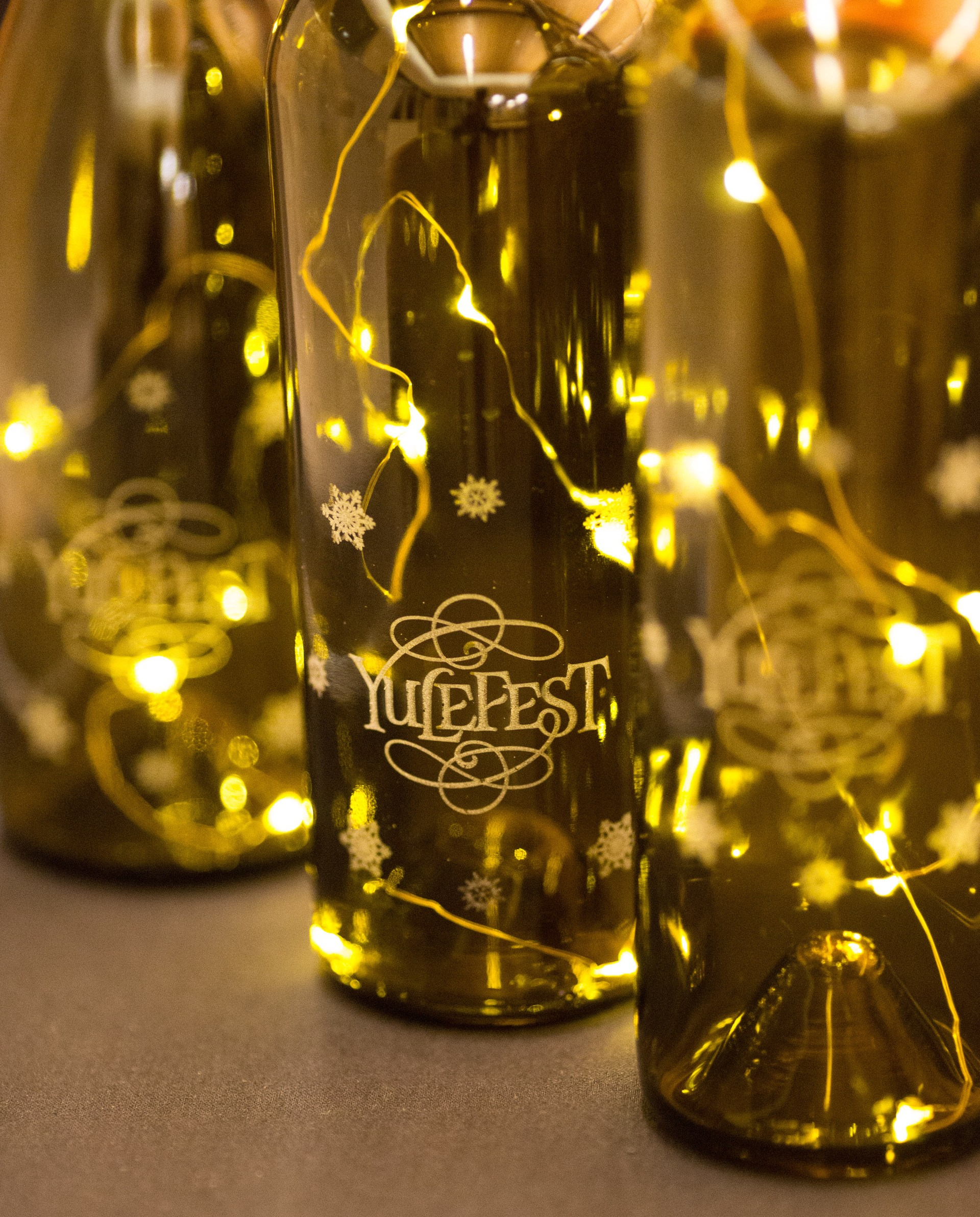 Yulefest wine bottles.