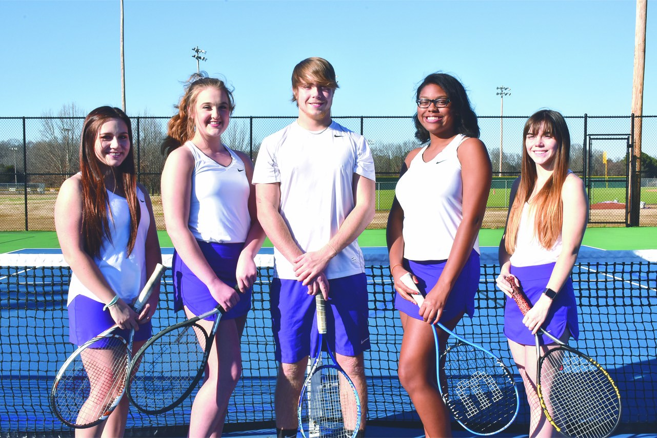 group photo of senior tennis players