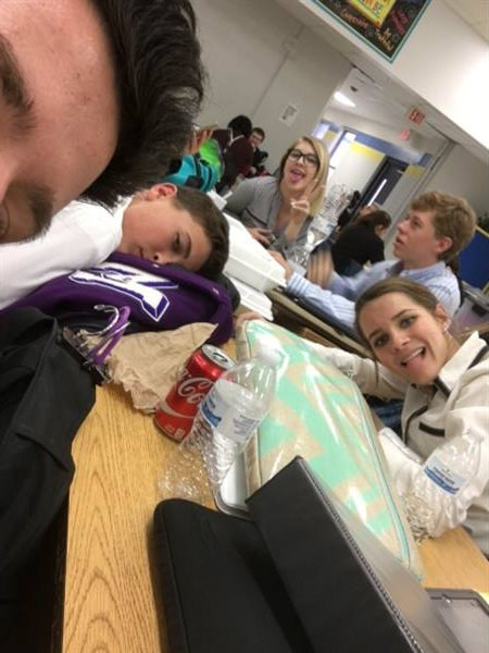 Students taking a break at a UIL Competition