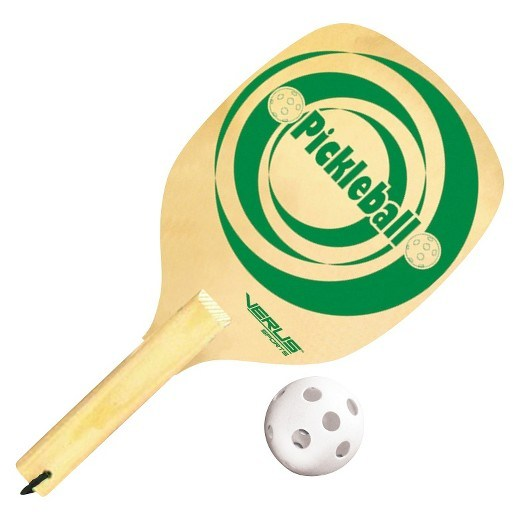 Pickleball paddle and ball