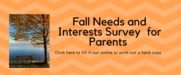 Fall Needs and Interest Survey