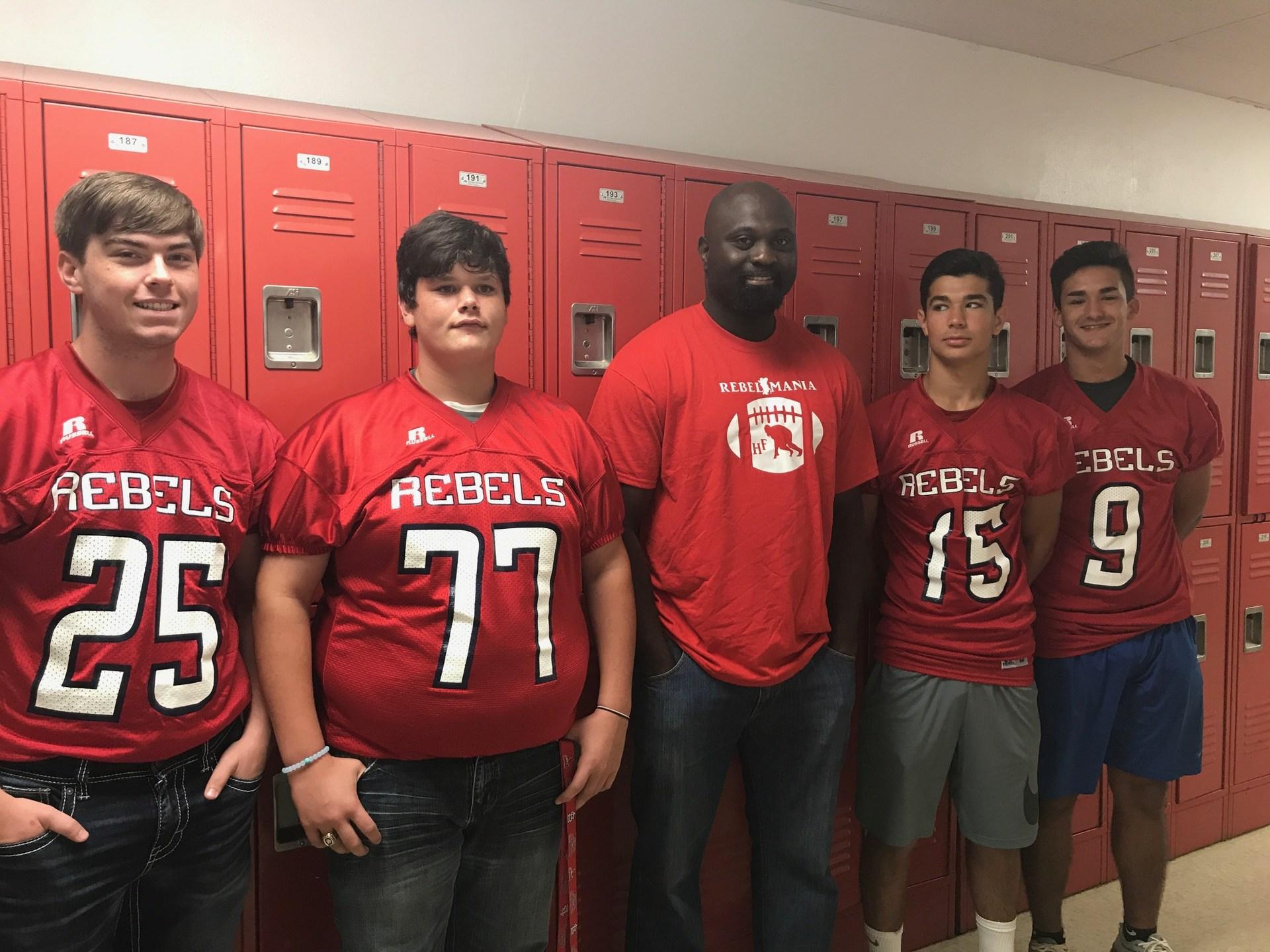 football boys and coach