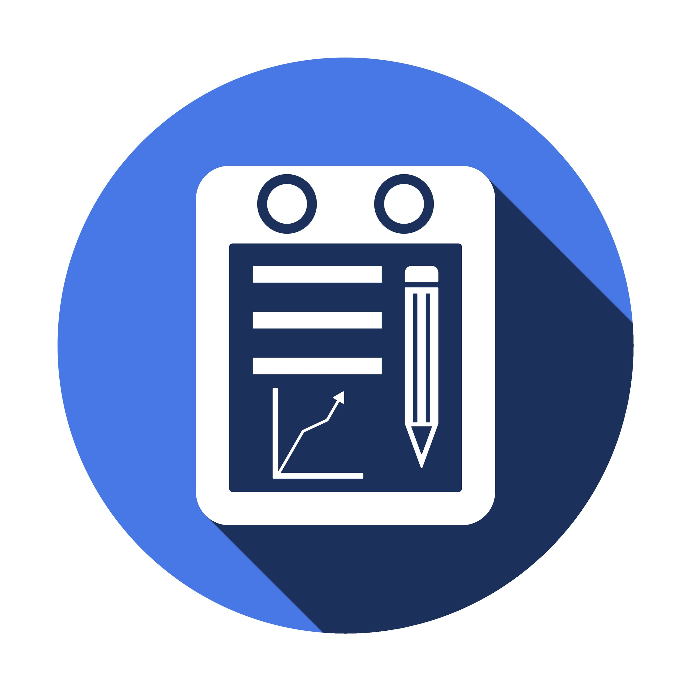 financial reports and presentations icon
