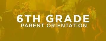 gold background 6th grade orientation