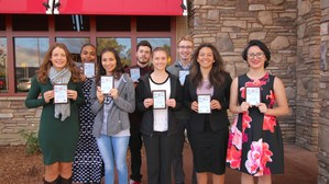 (back row left to right)Qiairah Link from Mountain View High School, Hale Castorena from Hamilton High School, and Michael McGivney from Hemet High School. (front row from left to right) Kristina Usenko from West Valley, Karla Almaguer from Tahquitz High School, Caitlyn Toomey from Hemet High School, Alexis Rodriguez from San Jacinto High School, and Roma Moran from Alessandro High School.