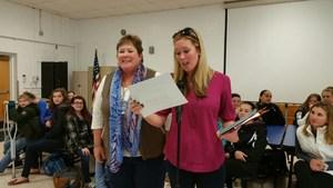 Joan Capella recognized by Principal Jamie VanArtsdalen 1.jpg
