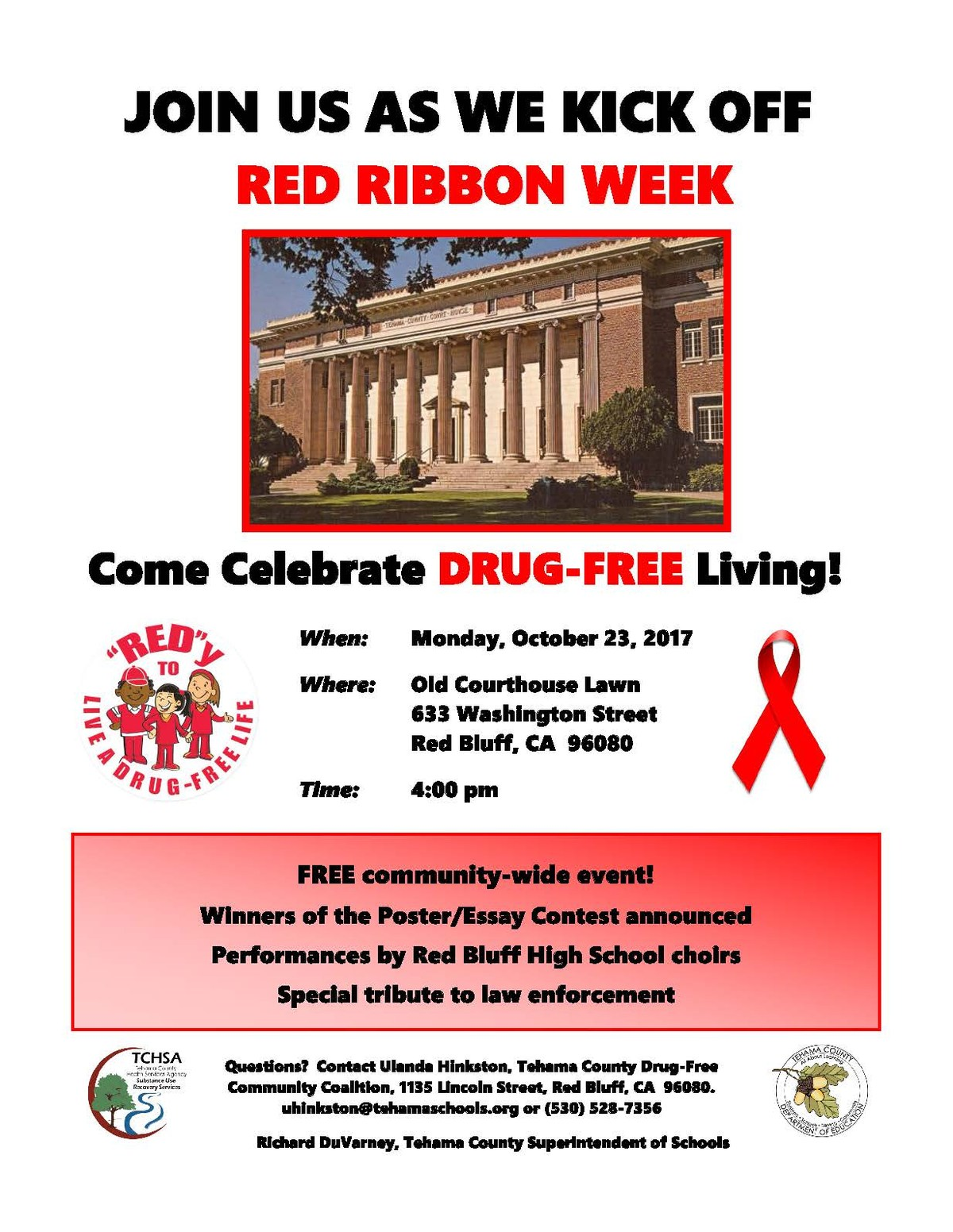Red Ribbon Week Kickoff Flyer 2017