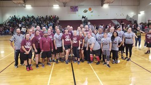 Staff and Parents basketball teams