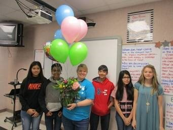 Megan Aguilar is FMS Teacher of the Year