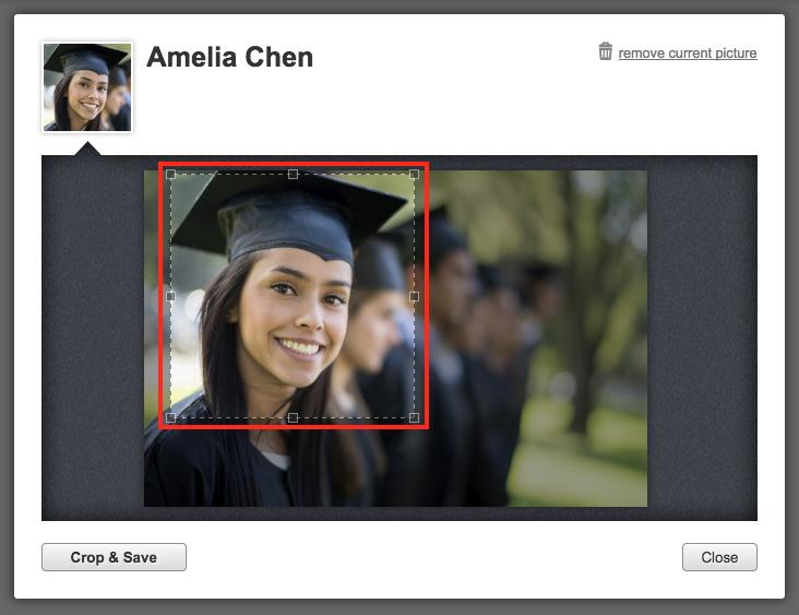Adjust outline to crop photo