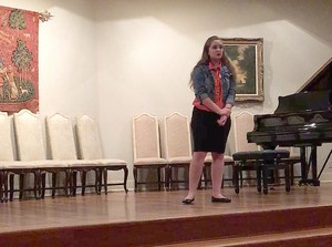 Student performs in Austin