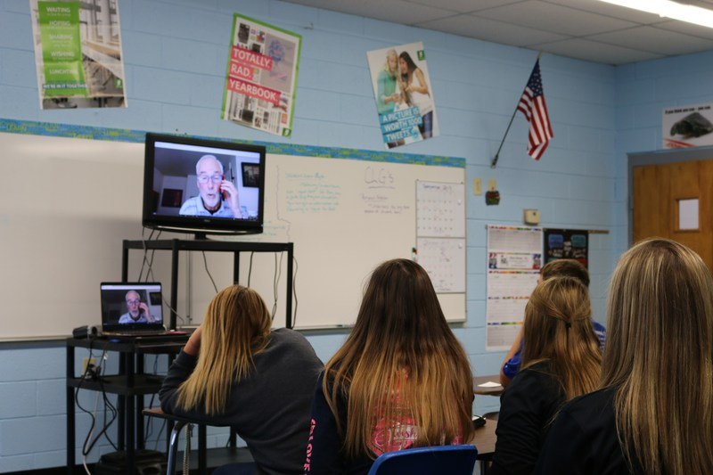 KVA's 9th Grade Skypes with Author Carl Deuker Thumbnail Image